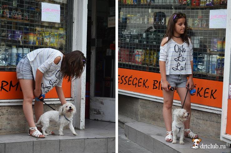 Девочка у магазина