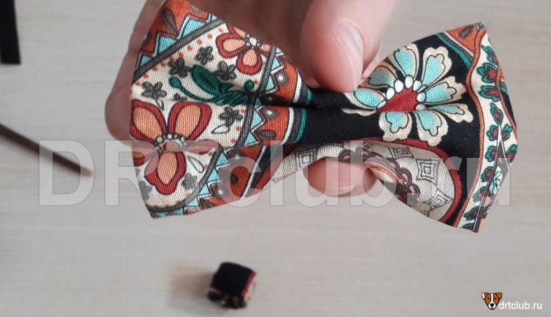 Формируем на бабочке складки