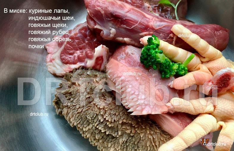 Допускаемые к скармливанию мясные кости