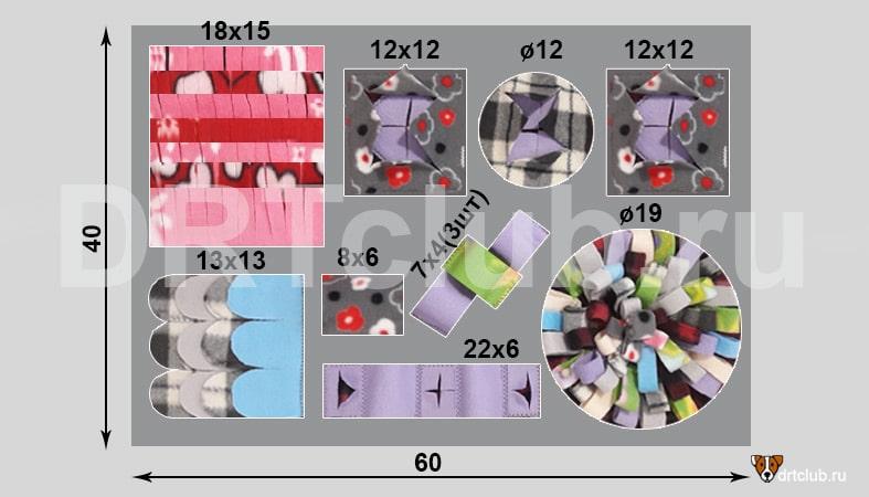 Схема нюхательного коврика
