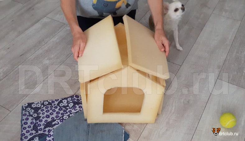 Поролоновые составляющие домика