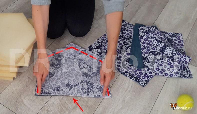 Сшиваем тканевые детали между собой