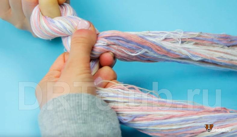 Плетём канат для собаки