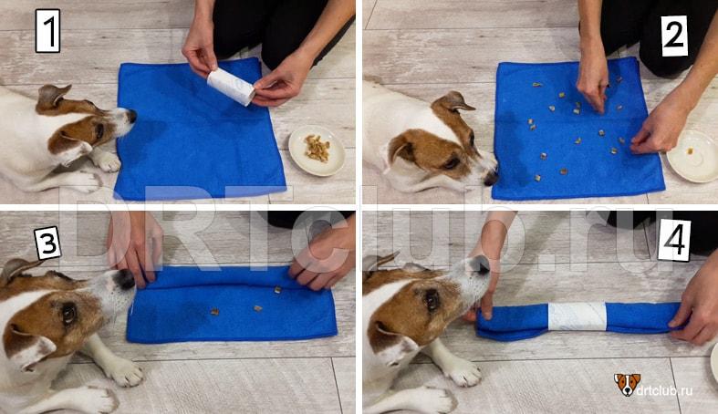 Развивающие игрушки для собак своими руками