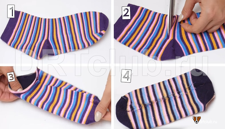 Как сделать игрушку из носка своими руками