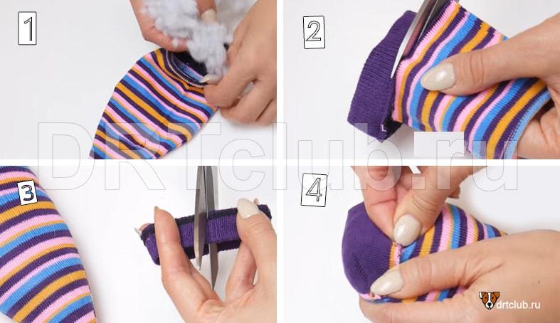 Игрушка из носка для начинающих рукодельниц
