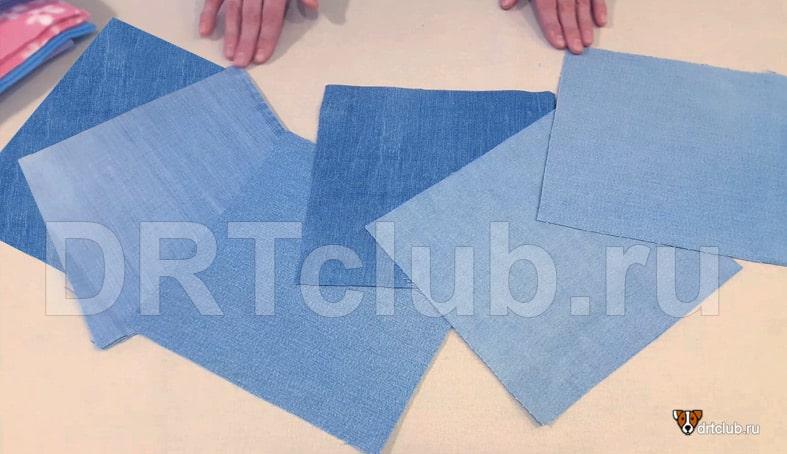 Вырезаем шесть одинаковых квадратов