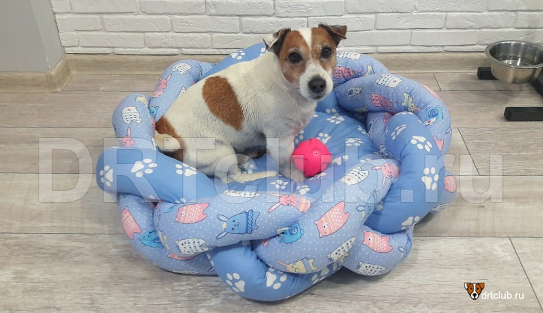 Лежанка-косичка для собаки