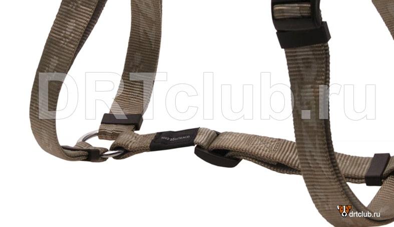 Регулировочная рамка на средней части шлейки