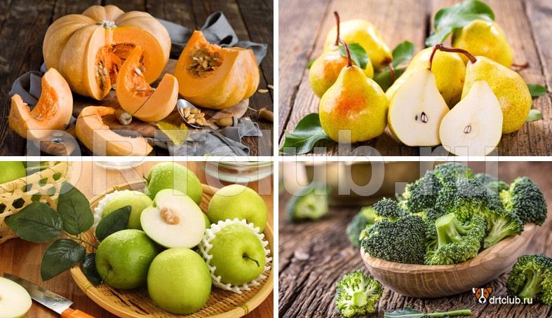Овощи и фрукты для приготовления печенья