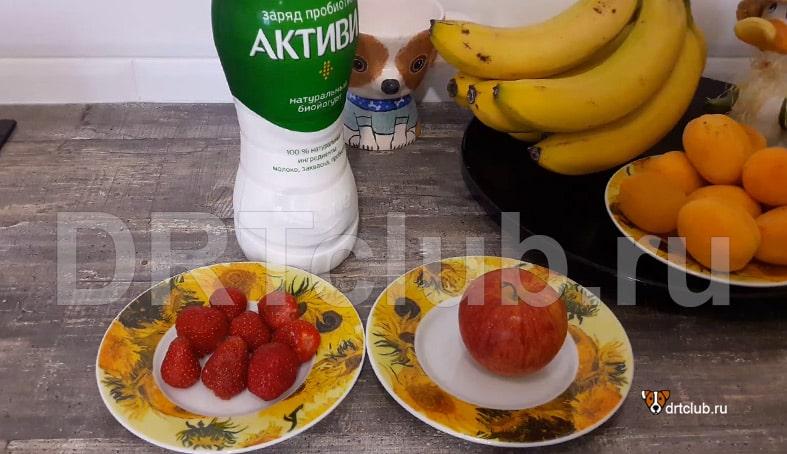 Продукты для изготовления фруктовых вкусняшек