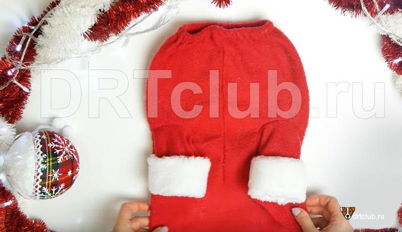 Пришиваем рукавчики к шубке Деда Мороза