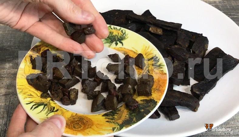 Сушеная печень для собак в духовке